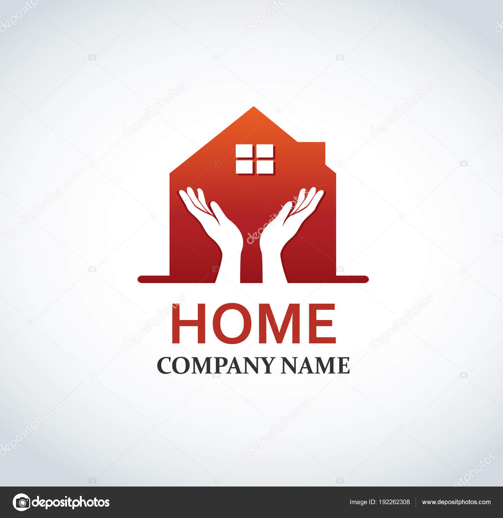 Hand Haus Logo Design Für Immobilien Eigentum Industrie Vektor ...