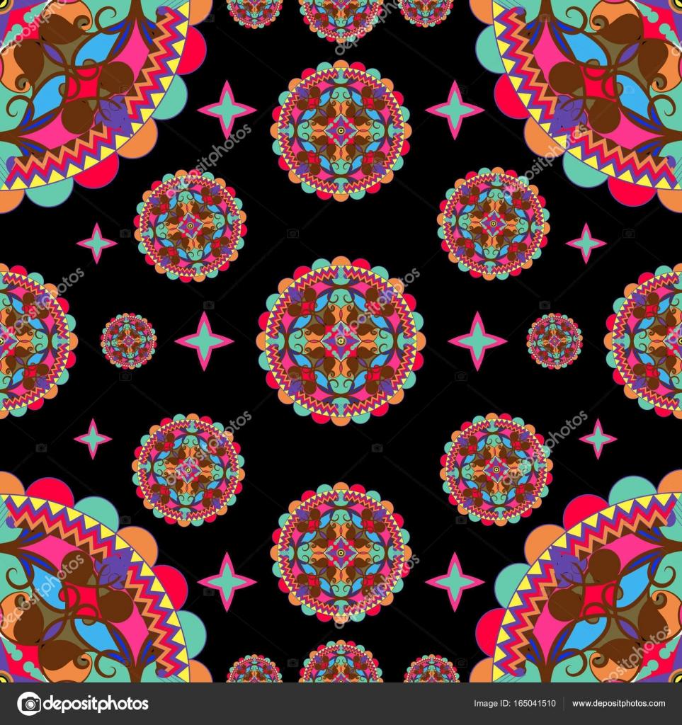Modèle   couleur orientale ornement — Image vectorielle