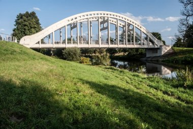 bridge over Olse river in Karvina - Darkov in Czech republic