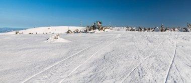 Velka luka and Krizava hills in winter Mala Fatra mountains in Slovakia