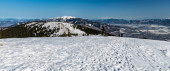 Photo amazing view from Mincol hill in winter Mala Fatra mountains in Slovakia