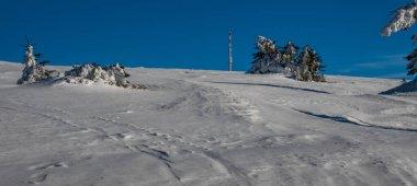Krizava hill on Martinske hole in winter Mala Fatra mountains in Slovakia