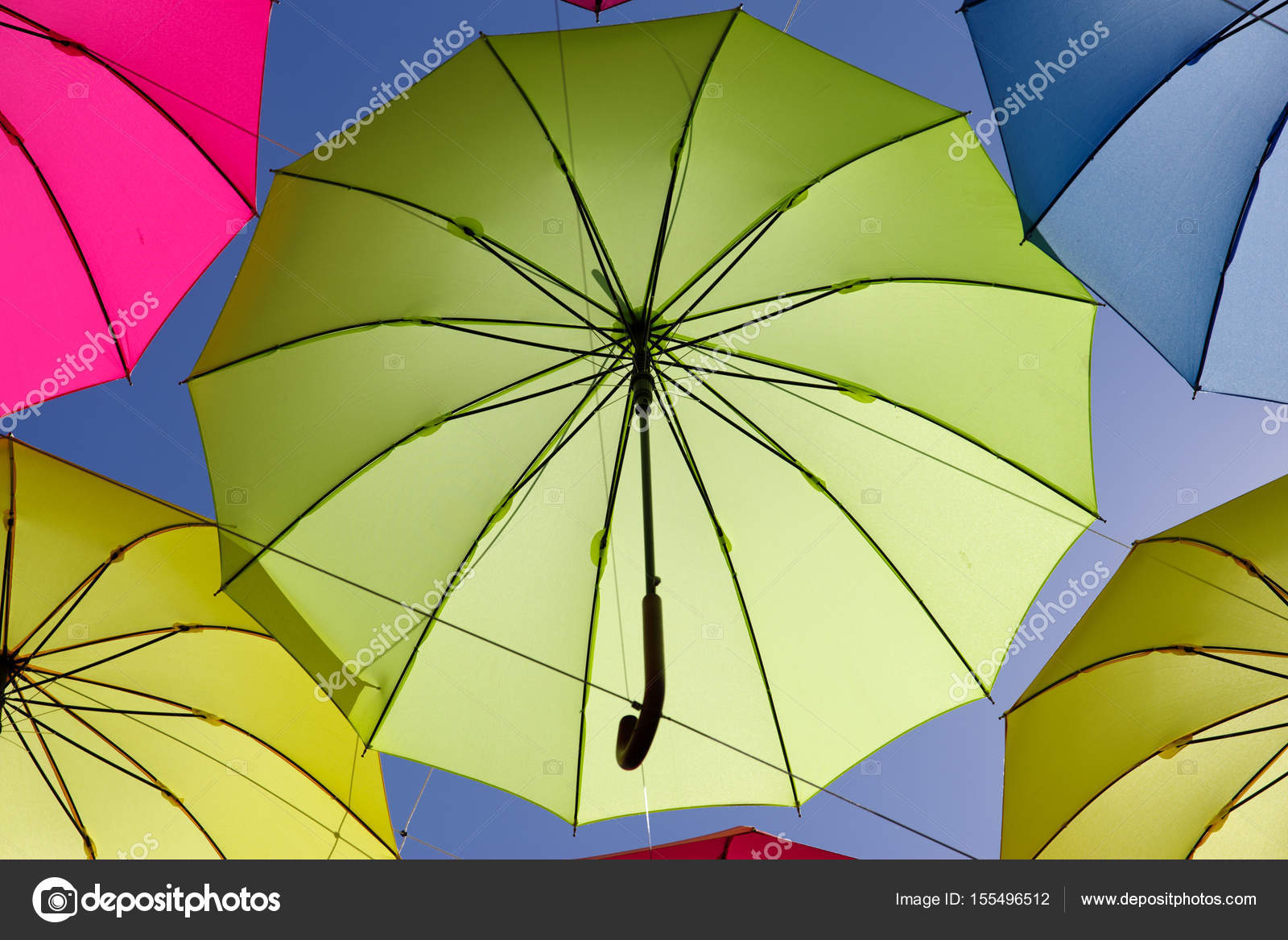 colorful umbrella on the sky — Stock Photo © bugking88 #155496512
