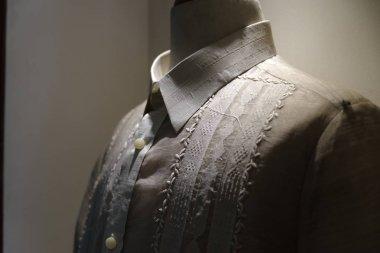 formal shirt and  national dress  barong tagalog