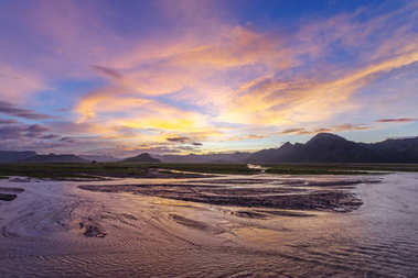 Beautiful sunset in Mt.Pinatubo