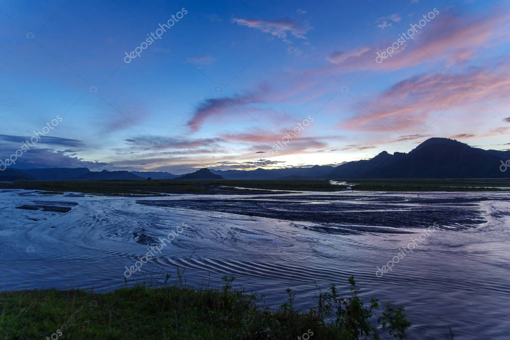 Beautiful sunset in Mt.Pinatubo