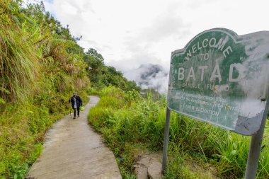 Dec 31,2017 people walking in Batad , Banaue