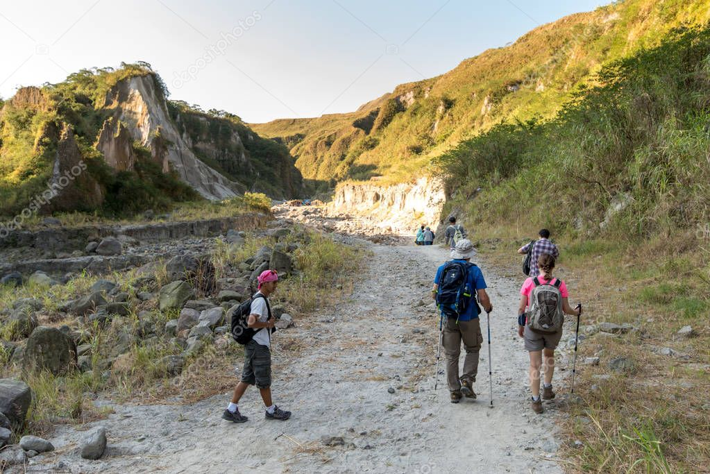 Feb 18,2018 People who are hiking Pinatubo, Capas