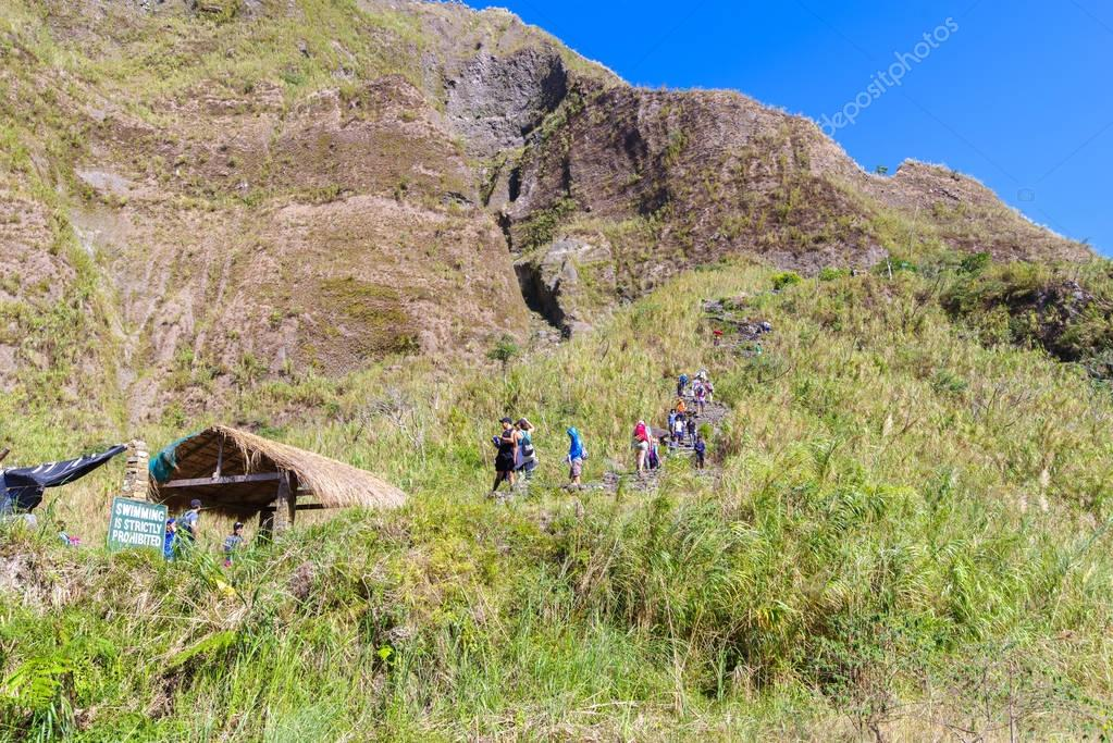 Feb 18, 2018 Tourists to Mt. Pinatubo crater lake, Capas