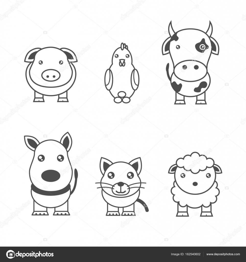 動物のモノクロ イラスト — ストックベクター © chekky #162540602