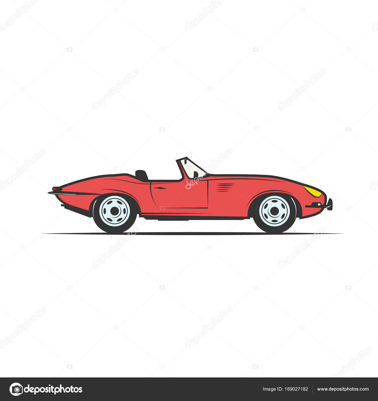 Clipart Red Convertible Red Cabriolet Vector Stock Vector C Chekky 169027182