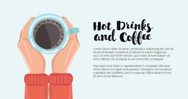 Human hand holding coffe cup