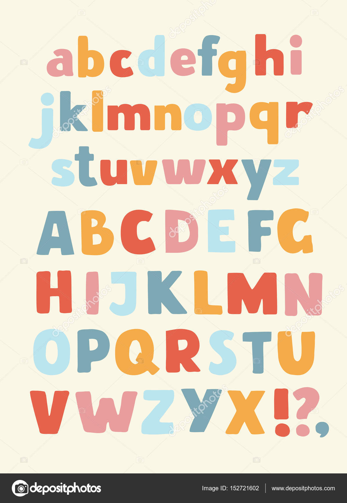 Creative High Detail Comic Font Alphabet In The Style Of Comics Letters For Decoration