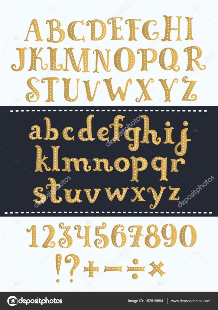 Set of handwritten gold latin letters vector script font golden set of handwritten gold latin letters vector script font golden alphabet isolated on background altavistaventures Image collections