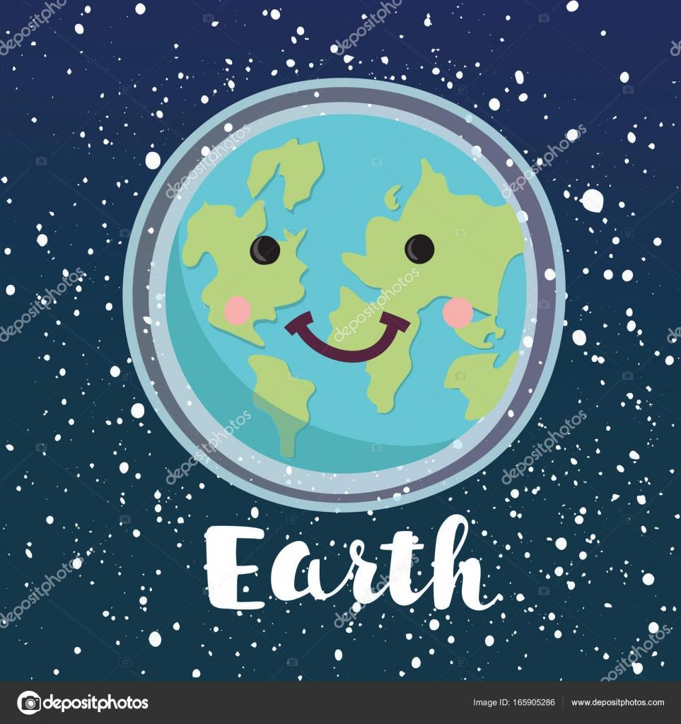 Día De La Tierra Feliz Carácter Del Planeta Paz En El