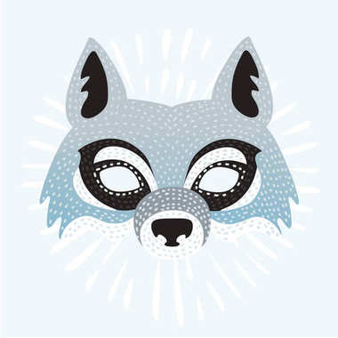 Vector illustration of mask of