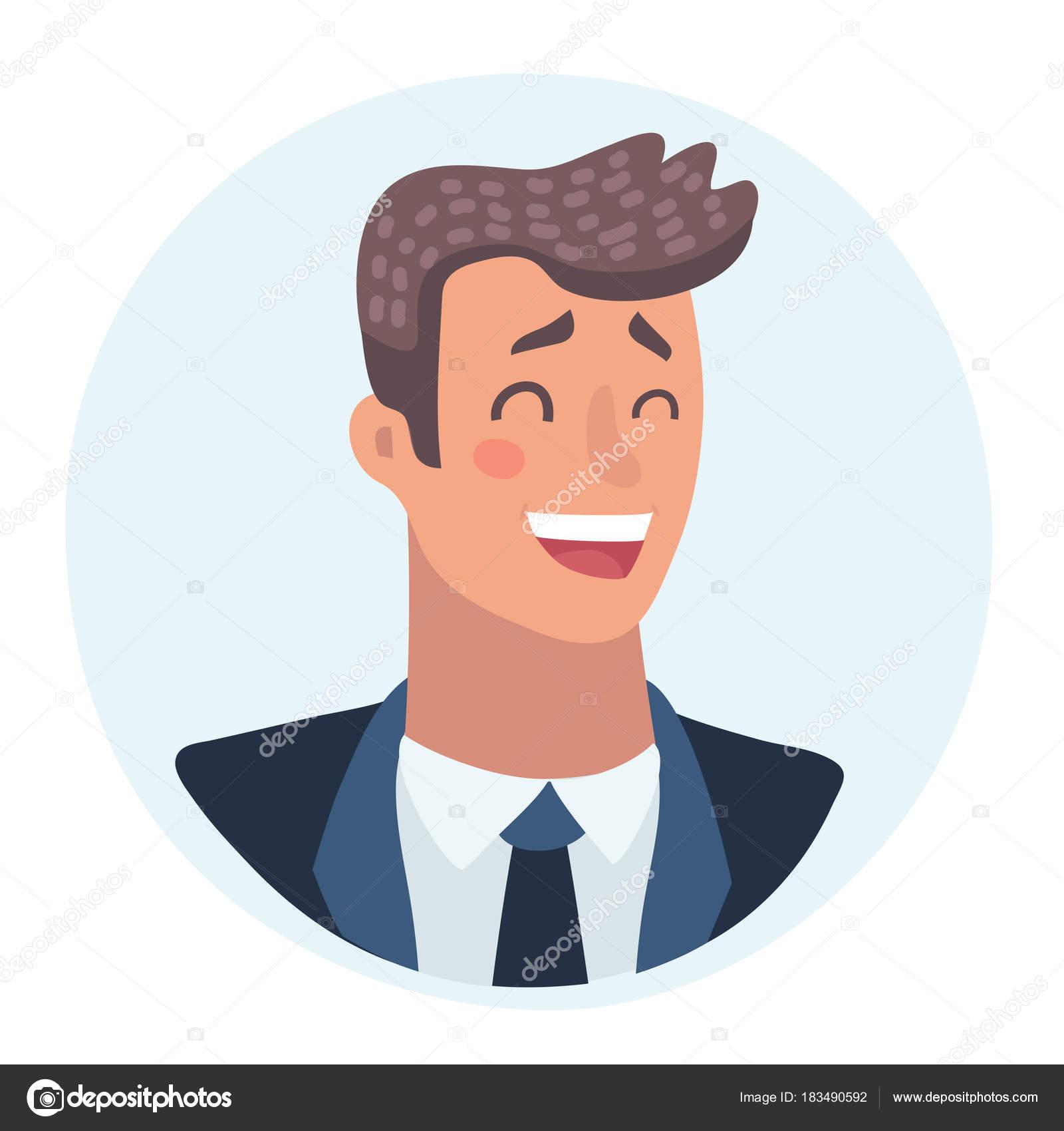 Jeune Homme Visage Expression Faciale Illustrations De Vecteur De