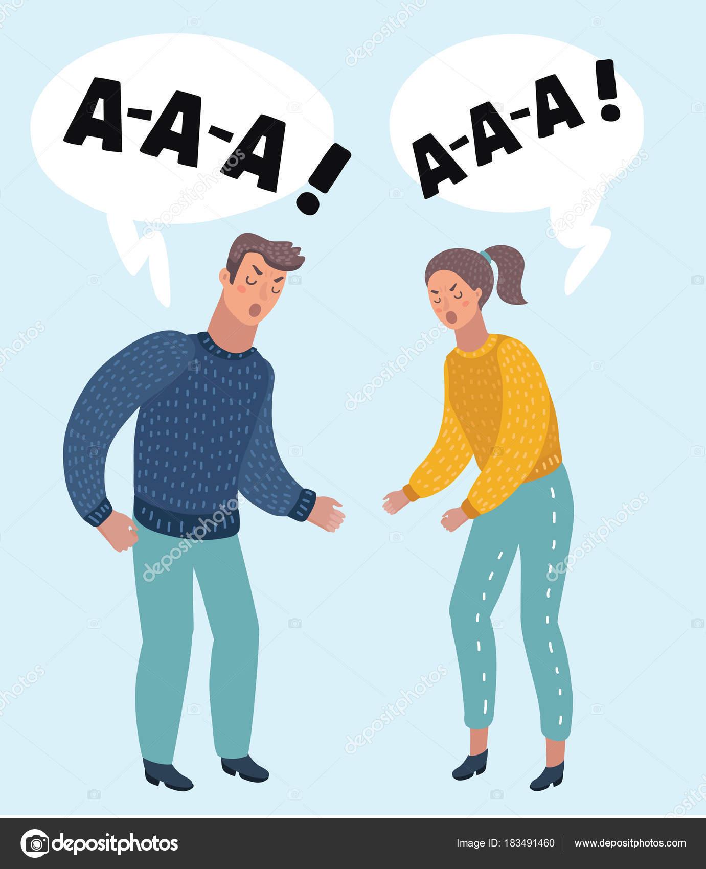 Resultado de imagen para pareja ilustracion molestos