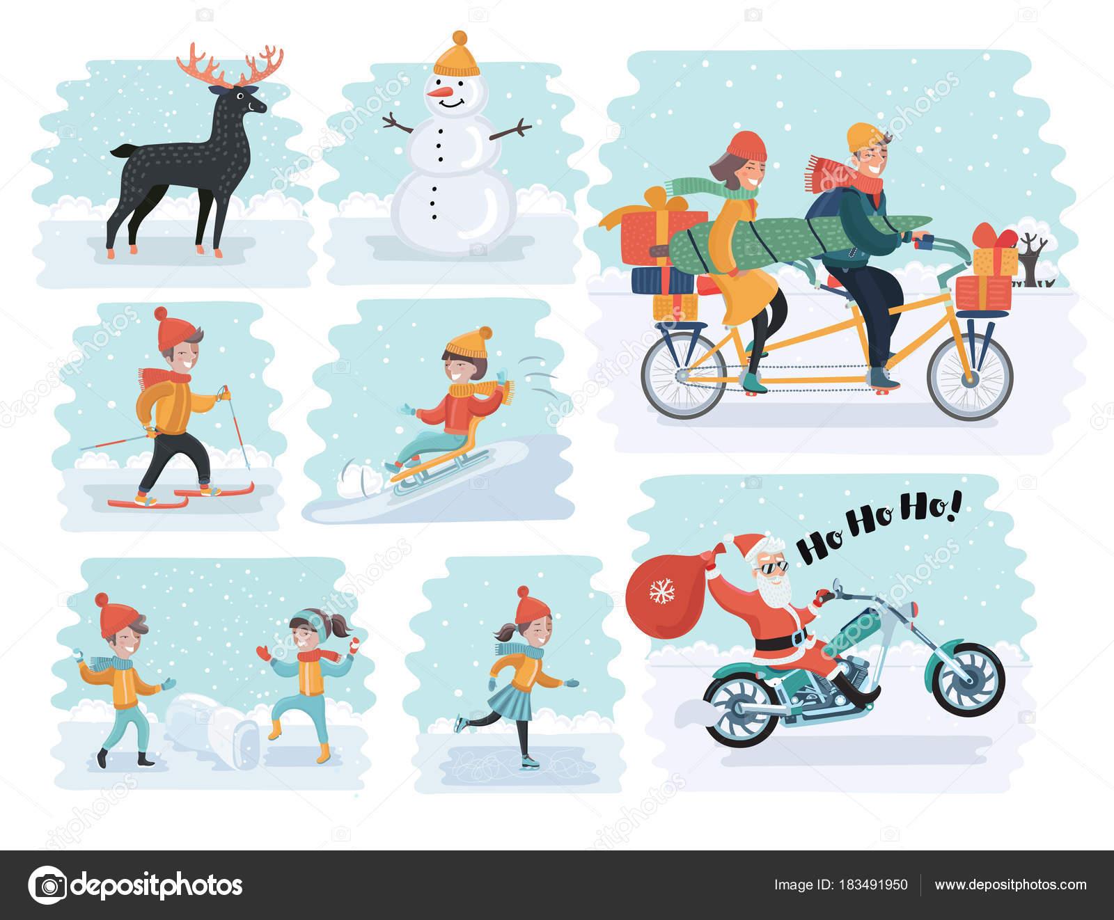 漫画人の冬の服のセットです。など様々 なライフ スタイルや実業家のよう