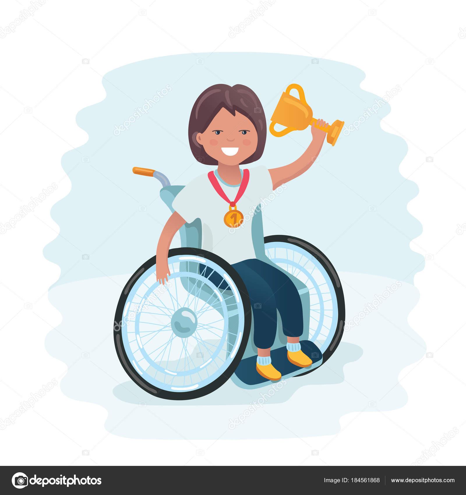 Famille Sportive Handicapés De Fille Dans Un Ballon De Jeu