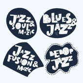 Photo Jazz Music. Sticker. Modern Calligraphy Hand Lettering for Silk Screen Printing
