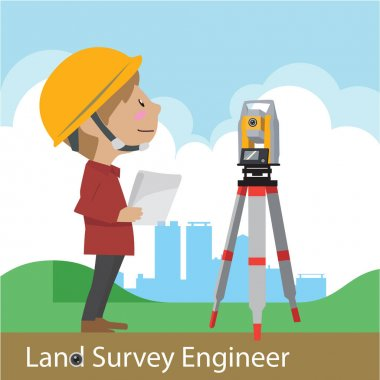 Construction and civil engineering vector illustration