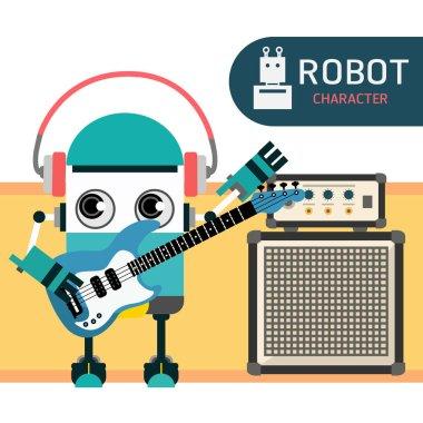 Robot character cartoon design