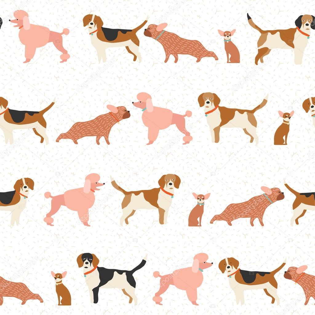 Patrón de cachorro de perro sin costura en vector — Archivo Imágenes ...
