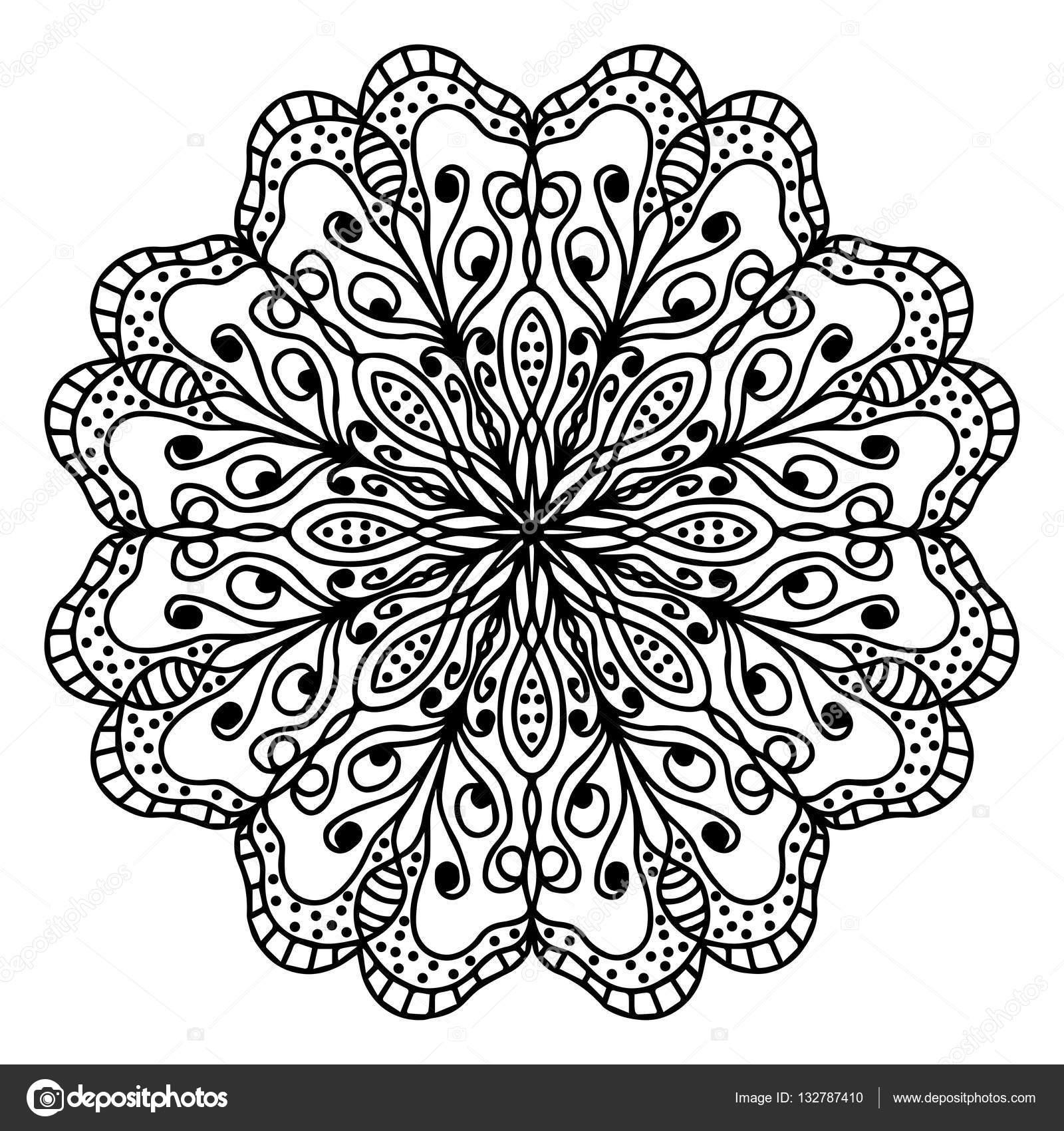 mandala kleurplaat pagina doodle stockvector 169 origaz