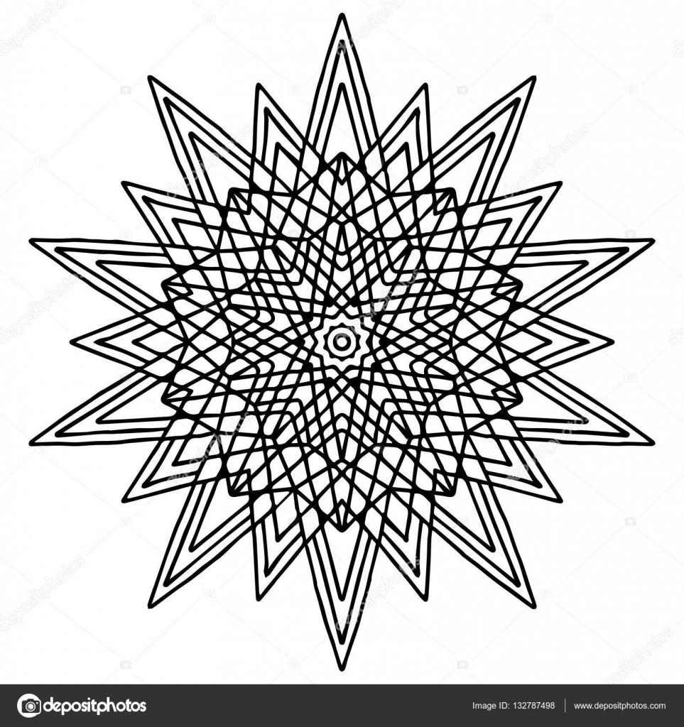 Kleurplaten Ster Mandala.Mandala Kleurplaat Pagina Doodle Stockvector C Origaz 132787498