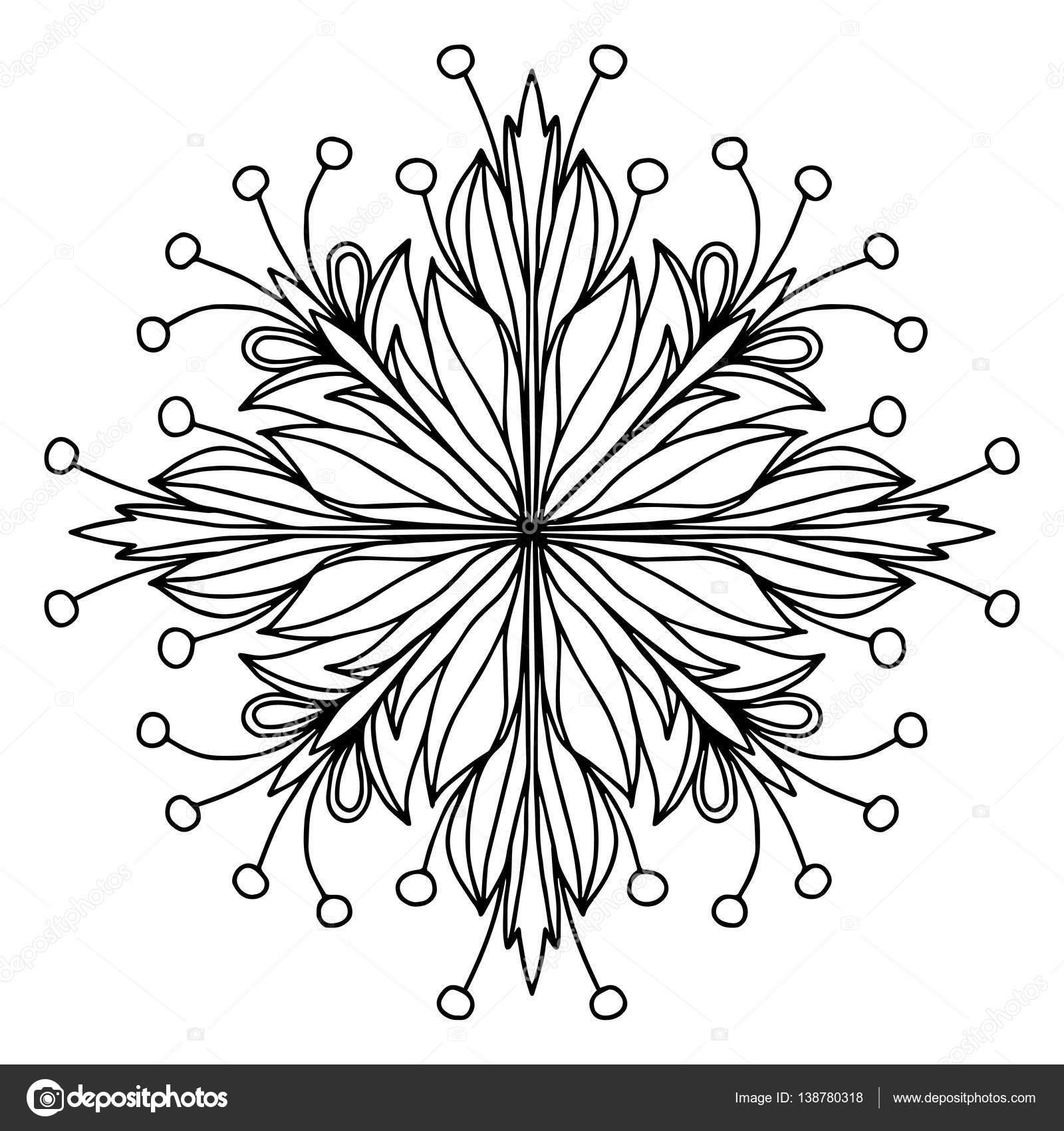 Mandala Malvorlagen Seite doodle — Stockvektor © OrigaZ #138780318