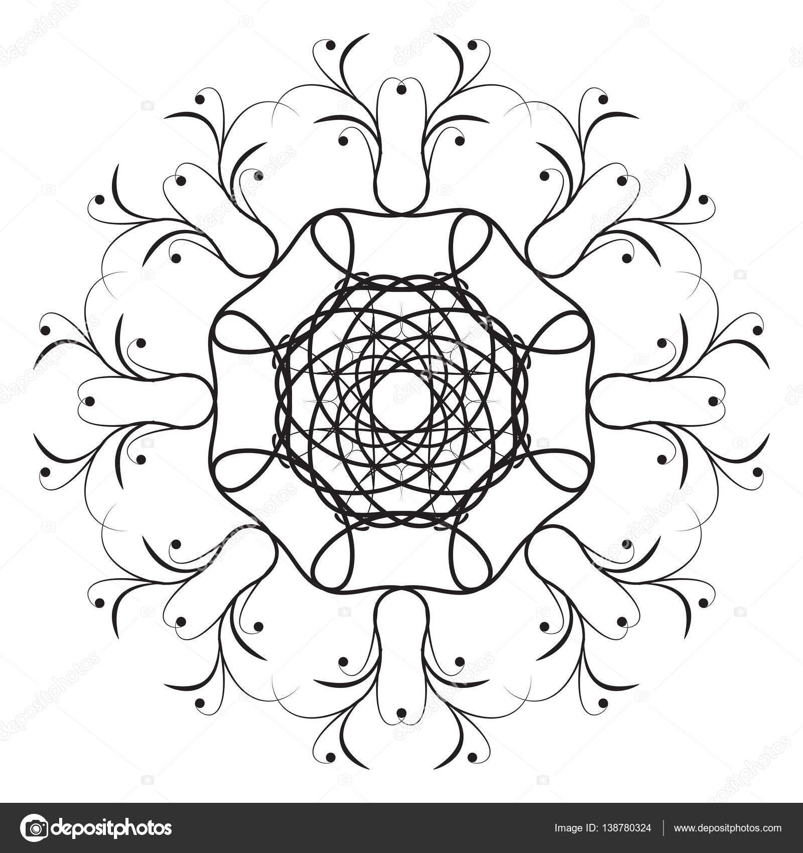 Mandala Malvorlagen Seite doodle — Stockvektor © OrigaZ #138780324