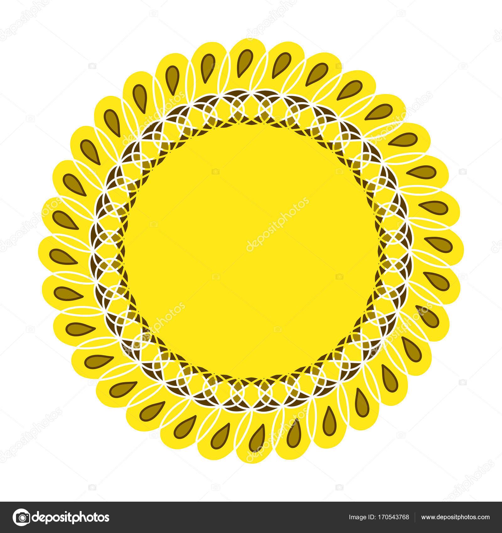 Sunflower Gardening Logo Symbol Icon Flat Style Design Vector