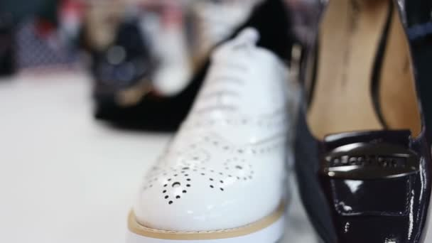 various womens shoes in a store