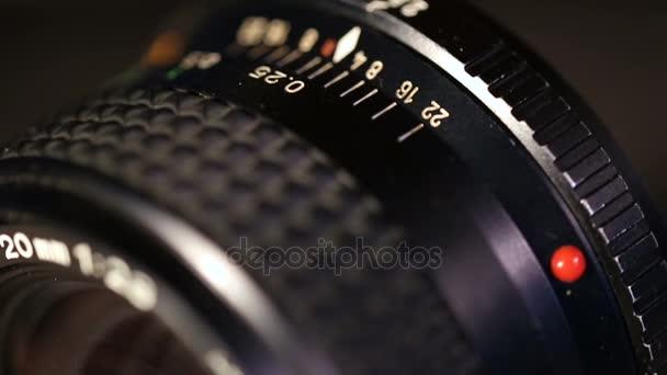 manuelle Fotolinse. Makroaufnahme