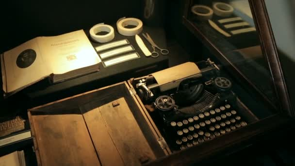 Typewriter keys. Keys on an antique typewriter.
