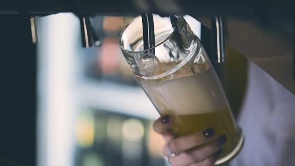 Csapolt sör pub ömlött csapos