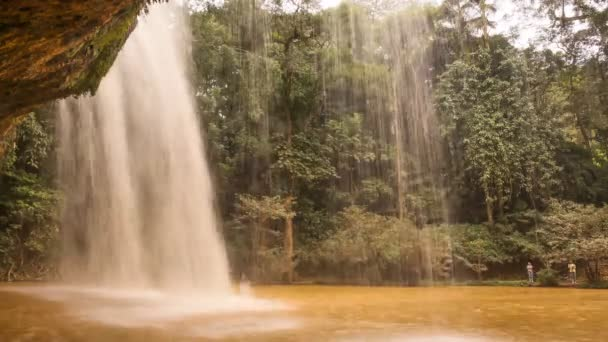 Prenn Waterfall. Da lat. Prenn is one of the waterfalls retained the pristine of the Highland mountains. 10 km south of the city. Vietnam. Timelapse.