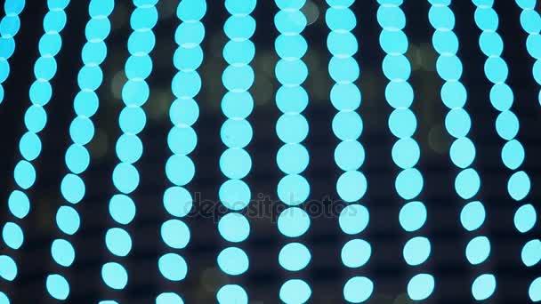 Barevné měnící světla osvětlení. Rozmazaný pohled.