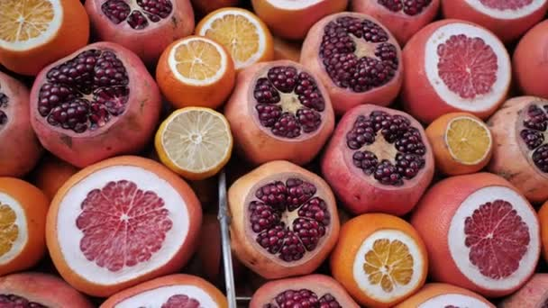 A group of citrus fruits on the streets of Turkey.