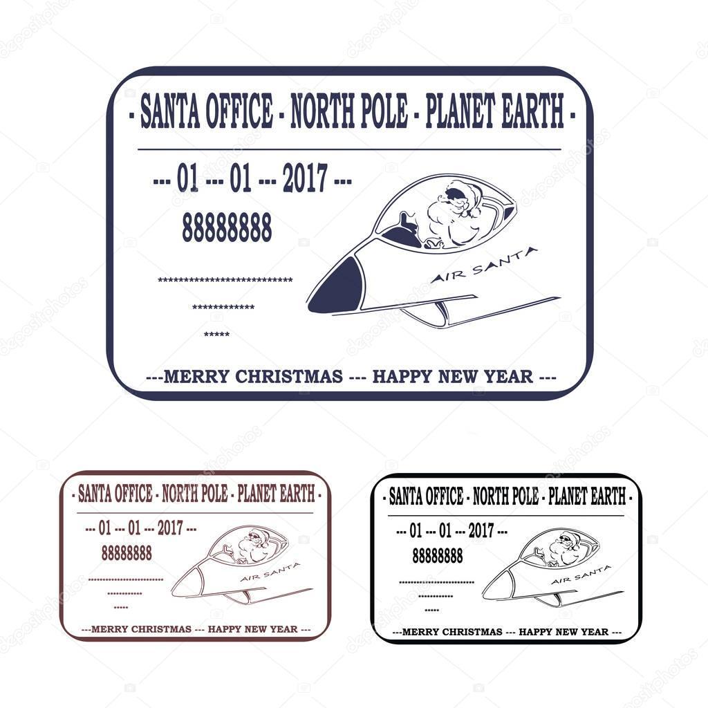 Weihnachten Neujahr Brief An Den Weihnachtsmann Vorlage Stempel