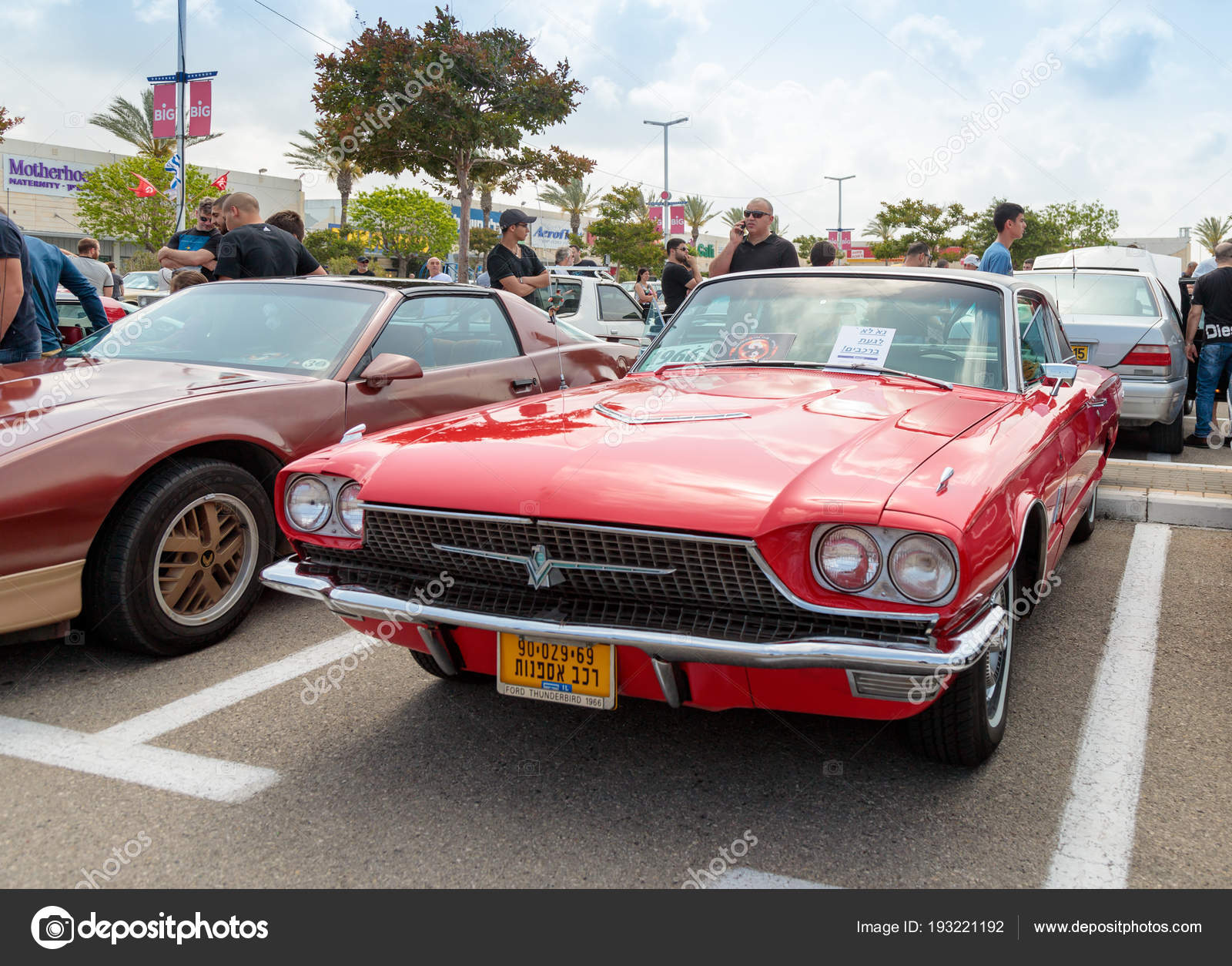 Old Ford Thunderbird 1966 at an exhibition of vintage cars