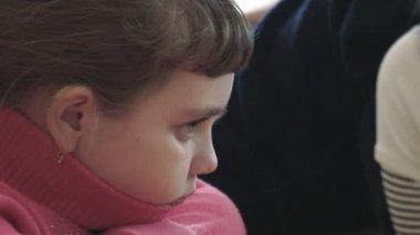 Portrait of a schoolgirl closeup