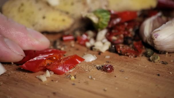 Red chili peppers slices over wooden cut by knife close up for red chili peppers slices over wooden cut by knife close up for mexican food stock forumfinder Image collections