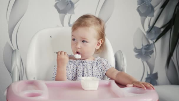 Baby photos eating food videos