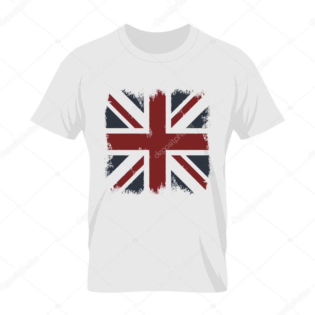 336710dd3a Ilustración de la bandera del Grunge. Premium calidad camiseta Londres  desgaste emblema y logotipo concepto imitan ...