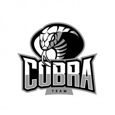Furious cobra sport vector logo concept isolated on white background