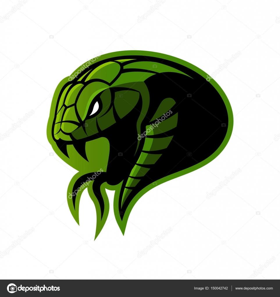 Concepto logo del vector de deporte de la furiosa serpiente verde ...