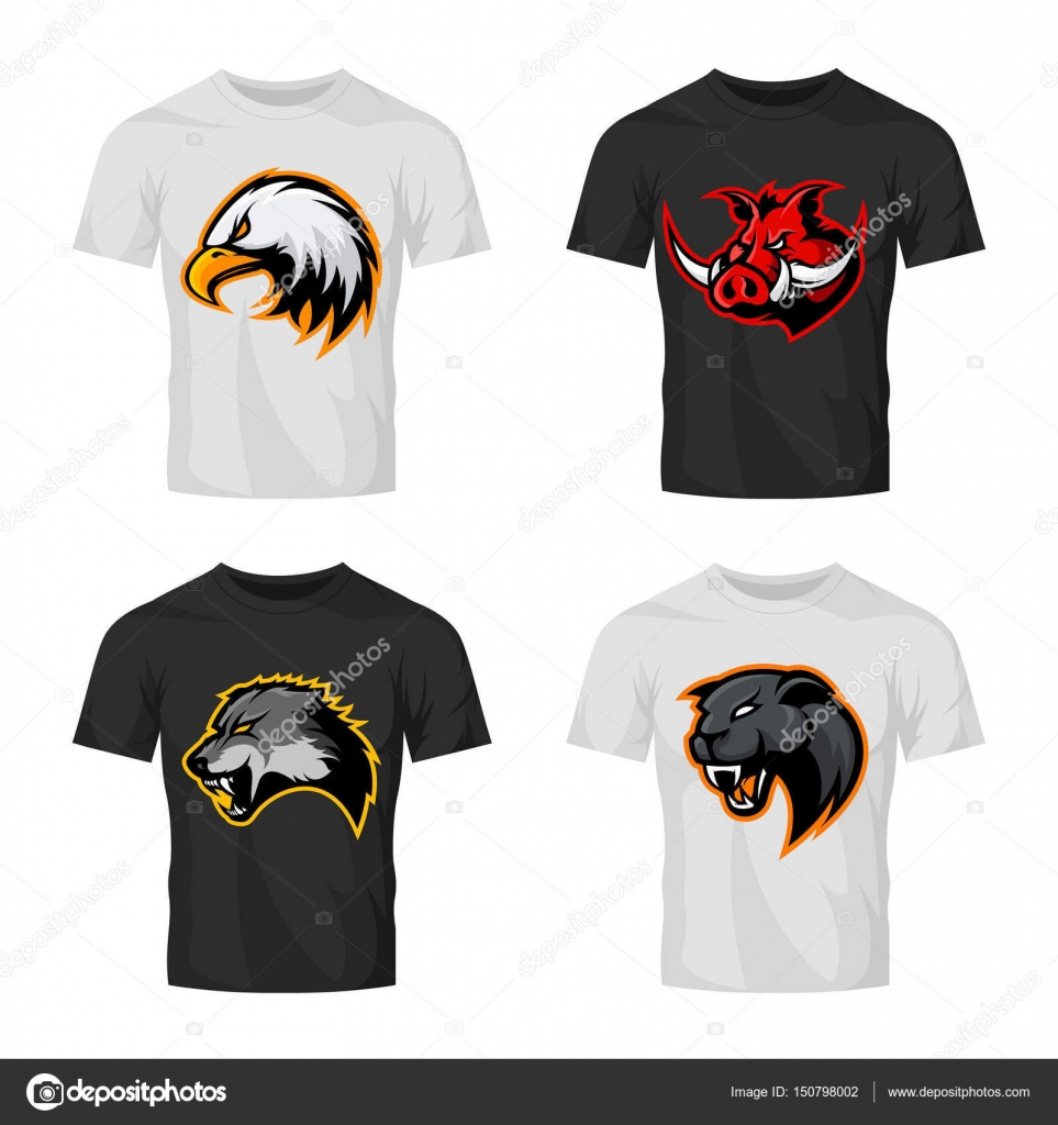 Furious boar wolf panther and eagle head sport vector logo furious boar wolf panther and eagle head sport vector logo concept set isolated on buycottarizona
