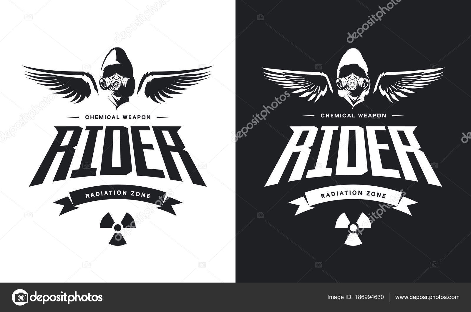 Vintage toxic rider gas mask black white isolated vector logo vintage toxic rider gas mask black white isolated vector logo stock vector biocorpaavc Images